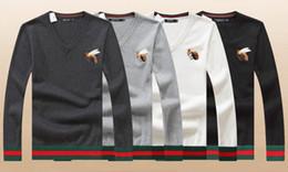 $enCountryForm.capitalKeyWord Australia - GC 7121 wholesale 2019 new high quality polo men's knit cotton heart-neck pullover men's models simple temperament designer sweater