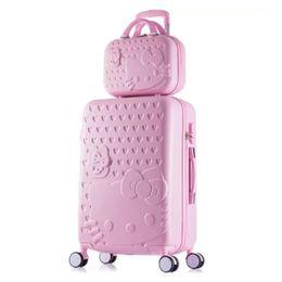 $enCountryForm.capitalKeyWord Australia - girls Hello Kitty Suitcase cute Luggage set 20 24 inch Women&Men Trolley Suitcase travel bag kids Luggage bag Rolling