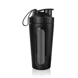 folding drinking bottle UK - 700ml 28oz Stainless Steel Protein Shaker With Mixing Ball Bpa Free Water Bottle Leakproof Gym Tumbler Mixer Sport Drink Bottle T8190627
