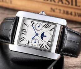 $enCountryForm.capitalKeyWord Australia - Free Shipping luxury mens watches All dials work Genuine Leather gold 35mm dial Designer wrist watch for men Valentine Gift Wholesale 2019