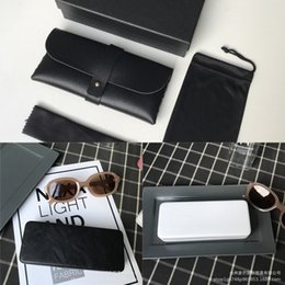 white leather storage boxes UK - Leather myopia case case Storage glasses box Women's ins simple and convenient hipster sunglasses storage box men's anti-pressure