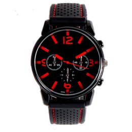 $enCountryForm.capitalKeyWord NZ - Exercise Sports Style Cool Accurate Adult Casual Gift Quartz Analog Men Watch Silicone Strap Big Dial Fashion