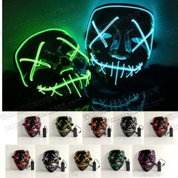 flash dancing Australia - Flash Line Halloween Fake Fluorescent Dance Luminous Mask Bloody Terror LED Luminous Mask