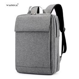 $enCountryForm.capitalKeyWord Canada - Wangka Fashion Business Men's Laptop Canvas Backpack For 15.6 Inch School Notebook Bags Women 2019 Waterproof Travel Rucksack Y19061102