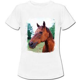 $enCountryForm.capitalKeyWord UK - Brown Horse Womens Boyfriend Fit T-Shirt Custom Jersey t shirt Classic Quality High t-shirt