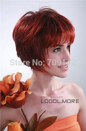 $enCountryForm.capitalKeyWord Australia - New Wine red Short Straight High quality Women Lady Hair wig queen Kanekalon hair no lace front wigs Free deliver