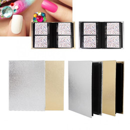 nail acrylic storage NZ - 30 Pages Nail Sticker Collection Albums Folding Storage Book Organizer Nail Sticker Albums