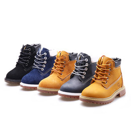 kids winter shoe size 25 Canada - Unisex Kids Boys Girs Ankle Boots Unisex Adults Outdoor Sports Boots Genuine Leather High Top Lace-up Snow Boots Casual Shoes Size 25-42