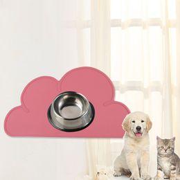 $enCountryForm.capitalKeyWord Australia - Silicone Cute Cloud Pet Feeding Mat Dog Pad Mat Pet Feeder Water Dish Bowl Placemat Feeding Clean Cat Dog Supplies
