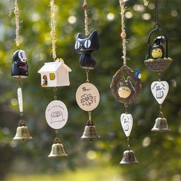 diy wind chimes Australia - Resin DIY Totoro Wind Chime Kid Home Decoration Cute Girl Room Home Decoration Bell Pendant Birthday Gift Animal