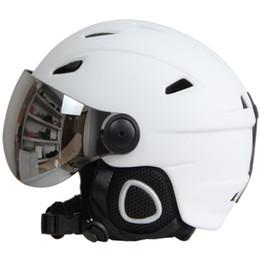 Half Helmet Goggles Australia - Half-covered Ski Helmet With Goggles Visor Snowboard Helmet Winter Snow Sled Sledge Scooter Mask Moto Snowmobile Capacete