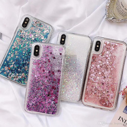 $enCountryForm.capitalKeyWord NZ - Love Heart Glitter Phone Case For iphone X XR XS MAX Liquid Quicksand Cover For iphone 5 5S SE 6S 6 7 8 Plus Bling Sequins