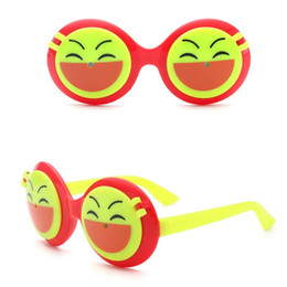 red eyewear kids Australia - Fashion Children Double Layer Sunglasses Kids Cute Emoji Flip Up Eyewear Boys Girls Hipster Costume Glasses UV400 Protection Sunglasses