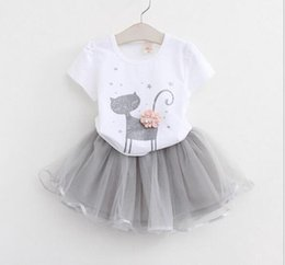 Summer Suit for baby girl online shopping - kids baby girls T shirt tops shorts pants dress clothes outfits set Summer Outfits Suit Costume For Girls Tutu Skirt KKA6560