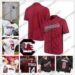 Kids jersey baseball online shopping - Custom South Carolina College Baseball Any Name Number White Red Black Jacob Olson Luke Berryhill Men Youth Kid Jersey XL