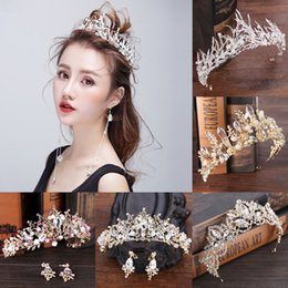 diamond crown headdress UK - Fashion Luxury Crystal Shiny Bridal Crown Tiaras Wedding Diadem For Women Hair Ornaments Bride Headdress Hairwaear Accessories