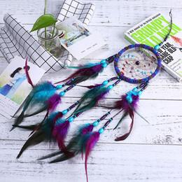 $enCountryForm.capitalKeyWord Australia - Home Decoration Craft Gift Dreamcatcher Wood Beads Feather Pendant Dream Catcher Wall Hanging 4.33 inch Diameter & 21.65 inch Long B995Q F