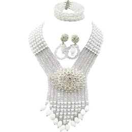 $enCountryForm.capitalKeyWord UK - White Transparent Clear AB African Beads Jewelry Set Crystal Statement Necklace Nigerian Wedding Accessories 6SDLS03