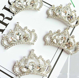 20pcs Silver Gold Plated Crystals Rhinestones Crown For Kids Hair Ornament Scrapbooking Bride Headwear Accessories Craft Diy from cz beads suppliers
