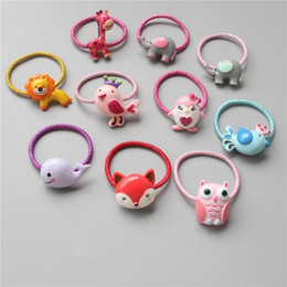 plastic lions NZ - 1PCS Cute Cartoon Bird Lion Elephant Princess Headwear Kids Elastic Hair Bands Baby Headdress Children Ropes Girls Accessories