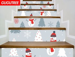 $enCountryForm.capitalKeyWord NZ - Decorate Home 3D Christmas cartoon art wall Stair sticker decoration Decals mural painting Removable Decor Wallpaper G-656