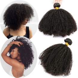 Discount afro curly human hair extensions - Brazilian Afro Kinky Curly Hair Weave Human Hair Bundles 3 Bundles Afro Kinky Curly Hair Extensions