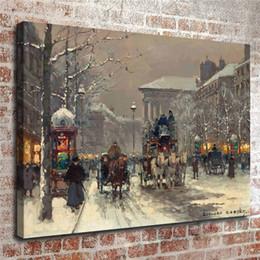 $enCountryForm.capitalKeyWord Australia - Edouard Cortes, Winter Scene In Paris,1 Pieces Canvas Prints Wall Art Oil Painting Home Decor (Unframed Framed) .