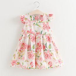 $enCountryForm.capitalKeyWord Australia - good quality Sweet Girls Floral Summer Dress Cool Thin Fabric Kids Dresses Children's Clothing Clothes