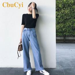 $enCountryForm.capitalKeyWord Australia - 2019 Spring Fashion Women Wide-Leg Jeans Blue Washed Vintage Denim Pants Women Loose Casual Tassels Cotton Denim Jeans Trousers