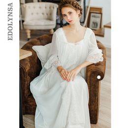 f376edf2c Healthy Home Dress Nightgown Women Plus Size Long White Cotton Sleepwear  Flare Sleeve Casual Night Dress Sleep Shirt Lady T39 Q190517