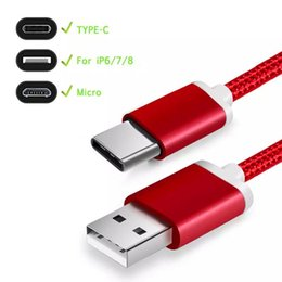 Discount high speed usb charger - 2019 High Speed USB Type C Cable 1M 2M 3M Micro USB Cable Fast Charger Sync Data Cord for Universal Cell Phones S168