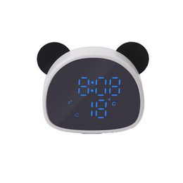 $enCountryForm.capitalKeyWord Australia - Panda Alarm Clock Multi-Function Mirror Clock Can Be Recorded With Voice Control Usb Night Light Charging Snooze Desk