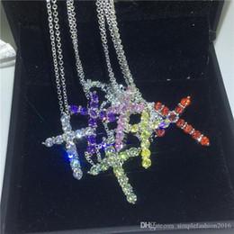 $enCountryForm.capitalKeyWord Australia - Handmade Cross pendant With necklace 925 Sterling silver 5A zircon Cz Party wedding Pendants for women men Gift