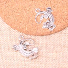 $enCountryForm.capitalKeyWord UK - 40pcs Charms gecko lizard Antique Silver Plated Pendants Fit Jewelry Making Findings Accessories 31*24mm