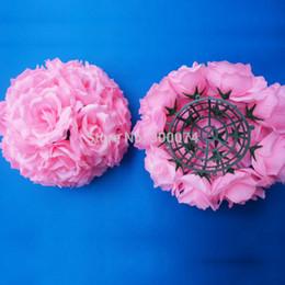 $enCountryForm.capitalKeyWord Australia - 4pcs 20cm Wedding Flowers Ball Table Centerpiece Decoration Artificial Silk Rose Pomander Wedding Flowers Arrangement Florie J190707