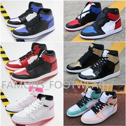 Blue Cotton Candy Australia - Top Quality Homage To Home J1 split Basketball Shoes Men Blue White Candy 1s Sneakers Hyper Pink Top 3 Gold TS SP Trainers shoes
