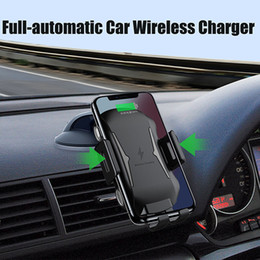 galaxy s9 plus charger Australia - Automatic Car Mount Qi Wireless Charger for Samsung Galaxy S10 S8 S9 Plus Case Mobile Accessories Fast Charging Car Phone Holder