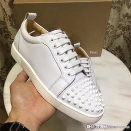2017 новый христианские христиане Мути CL белая кожа белый Спайк кроссовки красные туфли Дуг обувь