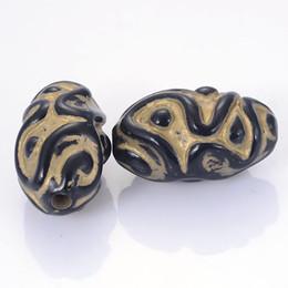 $enCountryForm.capitalKeyWord Australia - New Arrival Wholesale Fluted Corrugated Plating Acrylic Plastic Beads Antique Design Oval Beads Diy Jewelry Making