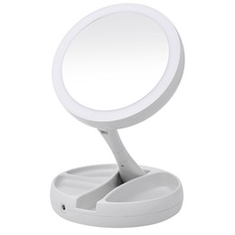 $enCountryForm.capitalKeyWord UK - Portable LED Lighted Makeup Mirror Vanity Compact Make Up Pocket mirrors Vanity Cosmetic Mirror 10X Magnifying Glasses VT0005-1