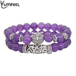 $enCountryForm.capitalKeyWord UK - ashion Jewelry Bracelets Yumfeel Handmade Tibetan Silver Vintage Owl Bracelet & Bangle Set Jewelry Natural Stone Crystal Beaded Bracelet ...