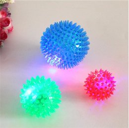 Wholesale Hedgehog Toys Australia - 2019 Dog Puppy Cat Pet Hedgehog Ball Rubber Bell Sound Ball Fun Playing Toy Hot Worldwide Brand New Pet flash toy ball