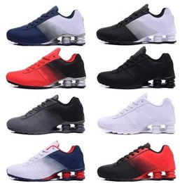 Nz ruNNiNg shoes online shopping - high quality New Deliver mens running shoes Cheap Famous DELIVER OZ NZ Men Sneakers Black White Blue Increased Cushion trainers