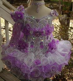 $enCountryForm.capitalKeyWord Australia - Beads Sequin Cupcake Girls Pageant Dresses Hand Made Flower Ruffles One Shoulder Long Sleeve Flower Girls Dress BC1417