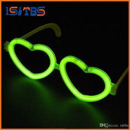 Party fluorescence stick online shopping - 2017 Hot sale Led Clothes Fluorescence Stick Glasses Luminous Heart Shaped Christmas Decoration Celebration Festivity Ceremony Party