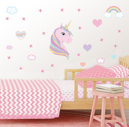 Cute Wedding Cartoons NZ - 2019 Wedding Decoration Party Cartoon Cute Star Heart Wall Stickers DIY Home Wall Decals Girl Living Room Bedroom Decor