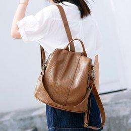 High Quality Backpack Brands Australia - CHALLEN 2018 High Quality Woman Backpack Brands Female Backpacks Schoolbag Leather Backpack Mochilas Escolar Feminina