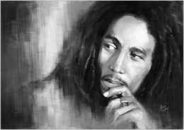 bob marley home decor Canada - Bob Marley Giant Painting Art Home Decor Handpainted &HD Print Oil Painting On Canvas Wall Art Canvas Pictures 200119