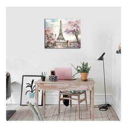 Free Style Paintings Australia - 2019 hot Sales!!! Wholesales Free shipping 1 PC Frame Modern Style Tower Scenery Living Room Hotel Decoration Painting