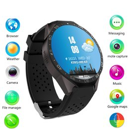Kw88 Android Quad Core Smart Watch Australia - 696 2018 KW88 Android 5.1 Smart Watch Phone MTK6580 quad core 1.3GHZ ROM 4GB + RAM 512MB 1.39 inch 400*400 Screen with 2.0MP